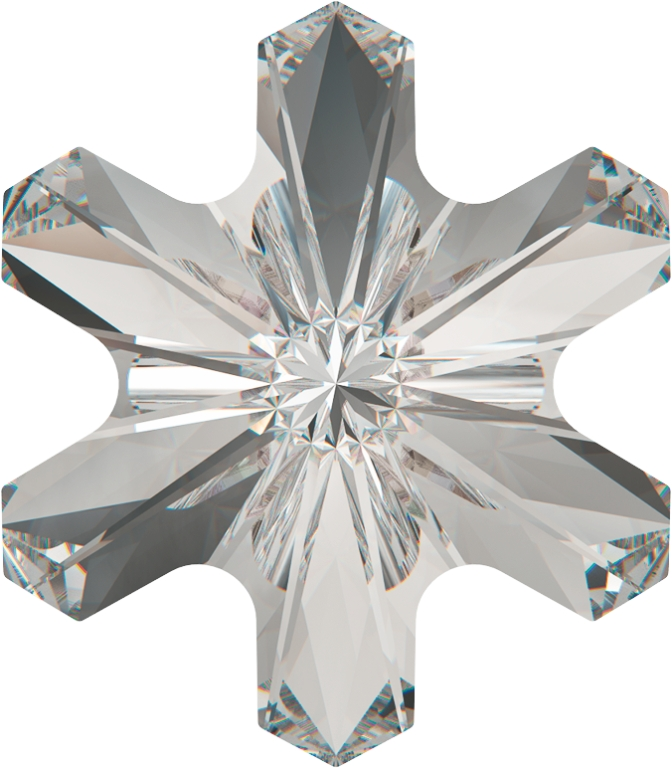 SWAROVSKI ELEMENTS 4747 Rivoli Snowflake Fancy Stone