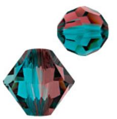 SWAROVSKI ELEMENTS BLUE ZIRCON/BURGUNDY BLEND