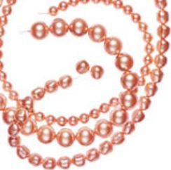 SWAROVSKI ELEMENTS CRYSTAL ROSE PEACH PEARL
