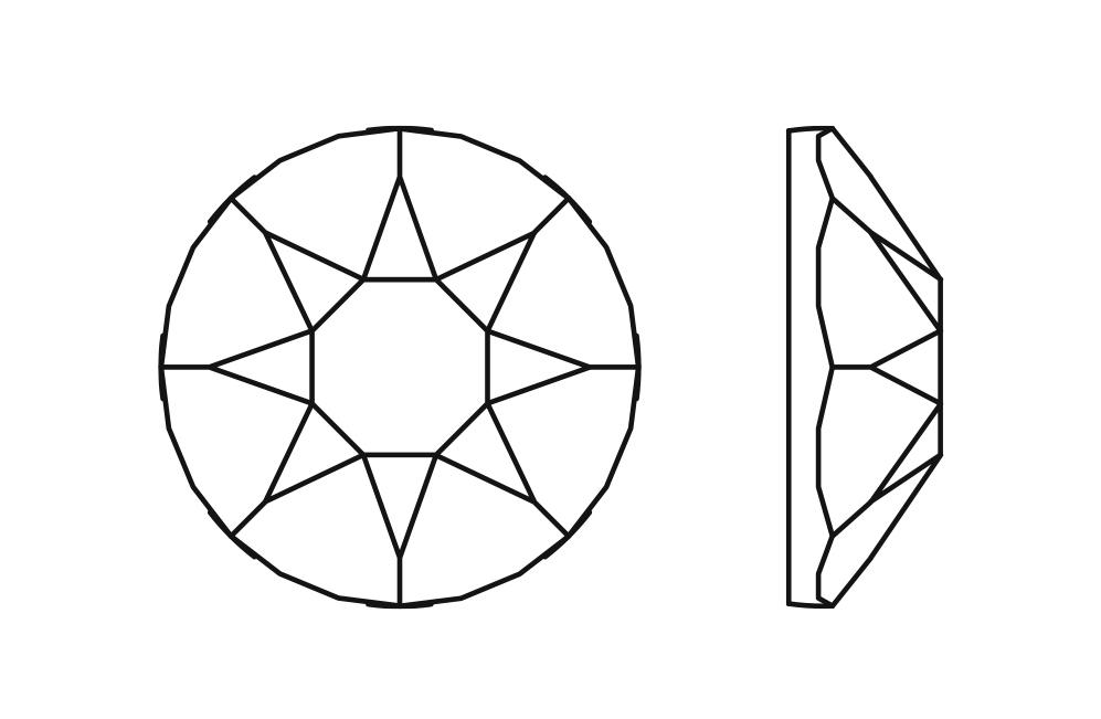 Swarovski 2078 XIRIUS Rose Hotfix Crystal AB SS20