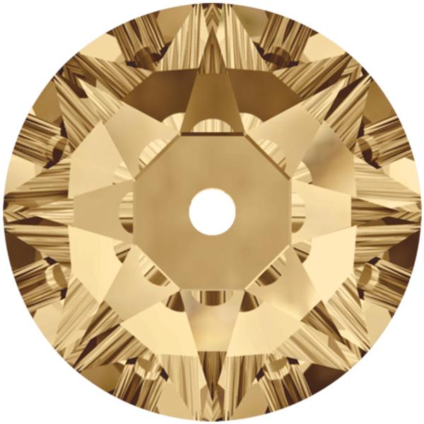Swarovski 3188 Xirius Lochrose Crystal Golden Shadow 5mm