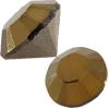 SWAROVSKI 1028 Round Pointed Back Rhinestones Crystal Dorado