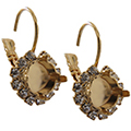 Empty Earring Settings Gold 8.5mm (ss39) Swarovski 1088