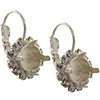 Empty Earring Settings Silver 8.5mm (ss39) Swarovski 1088