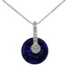 "16"" Necklace featuring round crystal pendant from Swarovski"