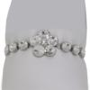 "7"" bracelet featuring Crystal Swarovski stones in silver settings"