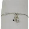 "7.5"" bracelet featuring Silver Shade and Crystal Swarovski stones in silver settings"