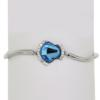 "7.5"" bracelet featuring Aqua and Crystal Swarovski stones in silver settings"