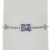 "7.5"" bracelet featuring Paradise Shine and Crystal Swarovski stones in silver settings"