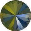 SWAROVSKI 1122 Rivoli Rhinestones 18mm Crystal Iridescent Green