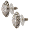 13mm Rondelle with Rivoli Button Earrings