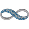 Swarovski Pave Infinity Pendant 20 mm Light Azore with Aqua on blue ceralun