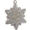 Swarovski Pave Edelweiss Charm or Pendant 26 mm White Opal with Crystal on Silver Edelweiss Flower