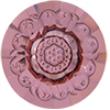 SWAROVSKI 1681 Vision Fancy Stones Round 12mm Crystal Antique Pink