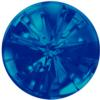 Swarovski 1695 - Celine Cousteau Designer Series Sea Urchin Round Stone Partly Frosted 10mm Crystal Bermuda Blue