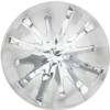 Swarovski 1695 - Celine Cousteau Designer Series Sea Urchin Round Stone Partly Frosted 10mm Crystal