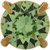 SWAROVSKI Single Stone Settings 17704 ss39 Peridot