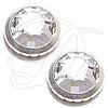 SWAROVSKI 2039 Ringed Hot Fix Crystals ss34 Crystal/Silver