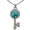 "16"" Key Necklace with crystals from Swarovski"