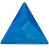 Swarovski 2721 Asymmetric Triangle Rhinestone 25mm Bermuda Blue