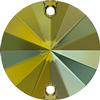SWAROVSKI 3200 Rivoli Rhinestones 10mm Crystal Iridescent Green