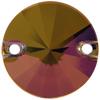 SWAROVSKI 3200 Rivoli Rhinestones 14mm Crystal Lilac Shadow