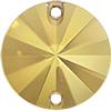 SWAROVSKI 3200 Rivoli Rhinestones 12mm Crystal Metallic Sunshine