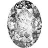 SWAROVSKI 4120 Oval Rhinestones 14x10 Crystal Black Patina