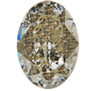 SWAROVSKI 4120 Oval Rhinestones 14x10 Crystal Gold Patina
