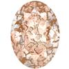 SWAROVSKI 4120 Oval Rhinestones 14x10 Crystal Rose Patina