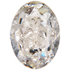 SWAROVSKI 4120 Oval Rhinestones 14x10 Crystal Silver Patina