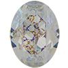 SWAROVSKI 4120 Oval Rhinestones 14x10 Crystal White Patina