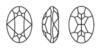 SWAROVSKI 4120 Oval Rhinestones 14X10 mm Rose Water Opal