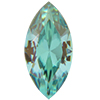 SWAROVSKI 4231 Antique Navettes 10 x 5 mm Aquamarine Champagne