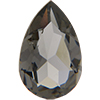 Swarovski 4320 Pear Black Diamond Unfoiled