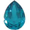 SWAROVSKI 4320 Pear Rhinestones 10 x 7 mm Blue Zircon