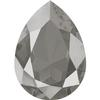 Swarovski 4320 Pear Fancy Stone 14x10mm Crystal Dark Grey