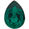 SWAROVSKI 4320 Pear Rhinestones 10 x 7 mm Emerald