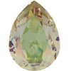 SWAROVSKI 4320 Pear Rhinestones 10x7 mm Crystal Luminous Green
