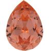 SWAROVSKI 4320 Pear Rhinestones 10x7 Rose Peach