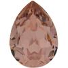 SWAROVSKI 4320 Pear Rhinestones 10x7 mm Vintage Rose