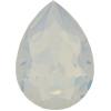 SWAROVSKI 4320 Pear Rhinestones 10x7 mm White Opal