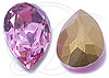 SWAROVSKI 4320 Pear Rhinestones 10 x 7 mm Rose
