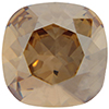 SWAROVSKI 4470 Square Rhinestones 10mm Golden Shadow