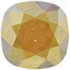 SWAROVSKI 4470 Square Rhinestones 10mm Crystal Metallic Sunshine