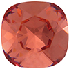 SWAROVSKI 4470 Square Fancy Rhinestones 10mm Padparadscha