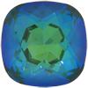 SWAROVSKI 4470 Square Rhinestones 12mm Ultra Emerald AB