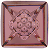 SWAROVSKI 4481 Vision Square Fancy Stone 12mm Crystal Antique Pink