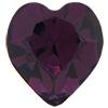 SWAROVSKI 4800 Heart Rhinestones 5.5 x 5 mm Amethyst