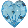 SWAROVSKI ELEMENTS 4800 Heart Rhinestones Aqua